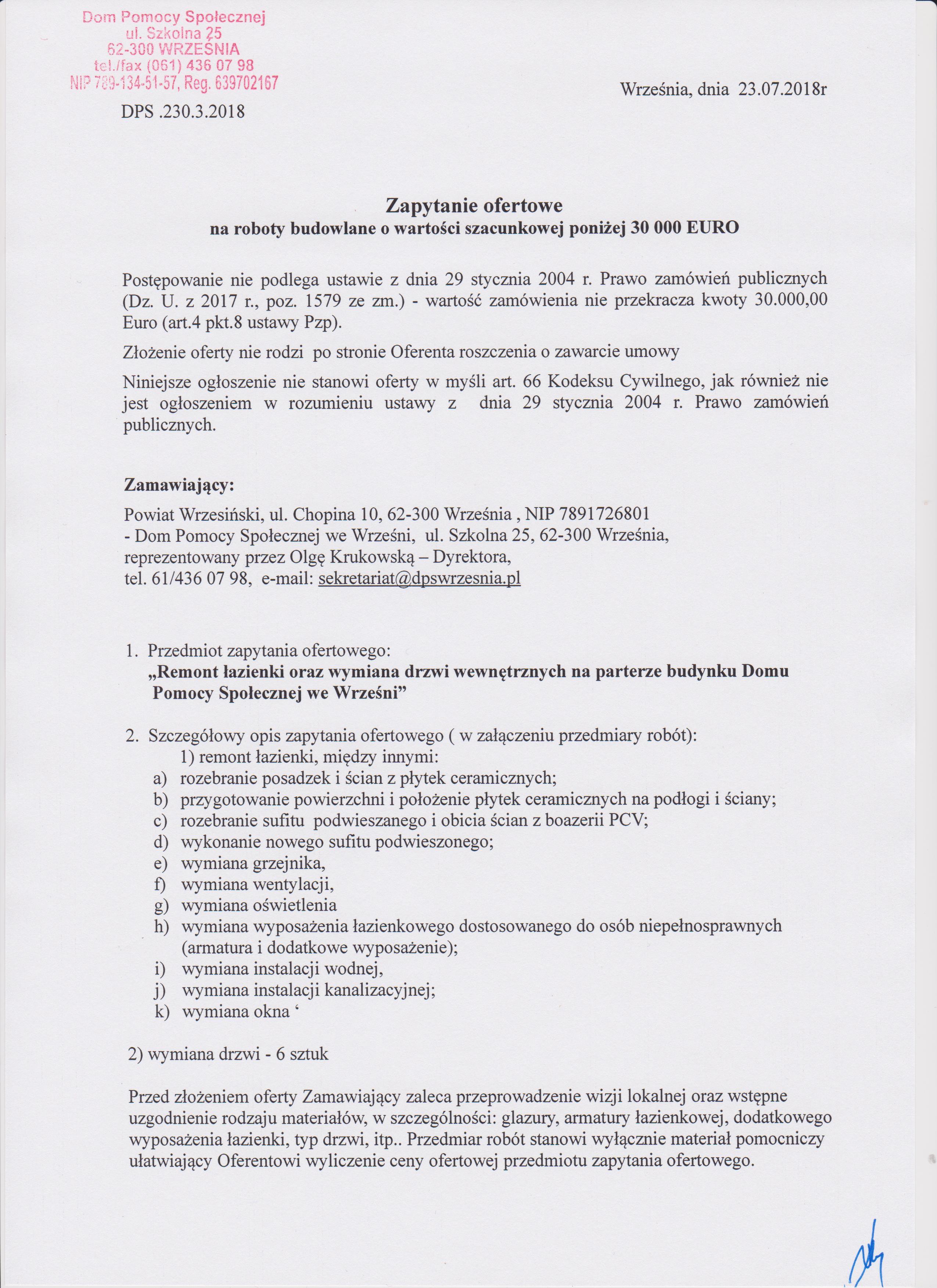 Umowa Na Remont Lazienki